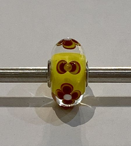 Trollbeads Unique Yellow Glass Bead U4